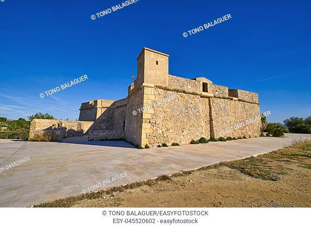 Sant Jordi de Alfama castle in Ametlla de Mar of Tarragona Catalonia