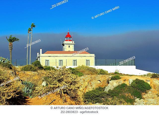 The Ponta da Piedade Lighthouse. Lagos, Algarve region, Portugal