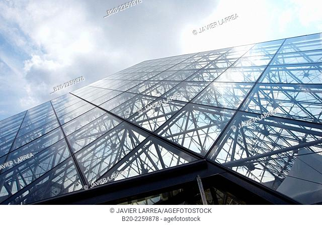 The glass pyramid. Louvre Museum. Paris. France