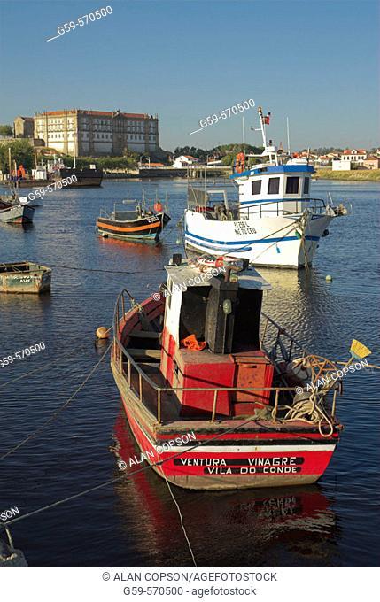 Vila do Conde. Fishing boats. Porto (Oporto). Douro Region. Northern Portugal