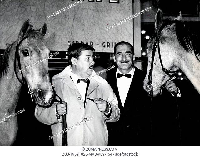 Oct. 28, 1959 - Paris, France - The Paris premiere of 'Jument Verte' (Green Mare), a film based on Marcel Ayme's novel, was held at the Ambassade Gaumont...