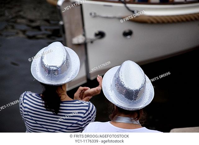 silver hats on the Canal Parade during Gay Pride Amsterdam 2010