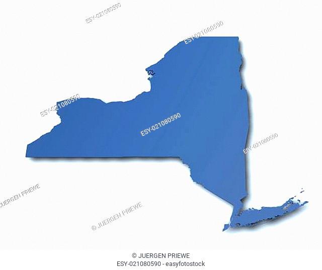 Karte von New York - USA