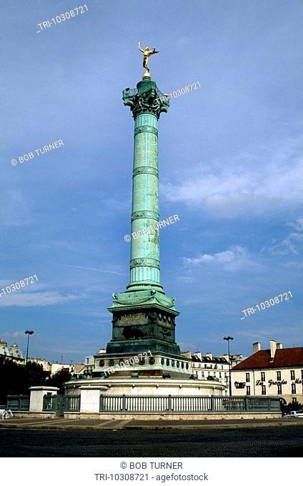 Paris France Place De La Bastille