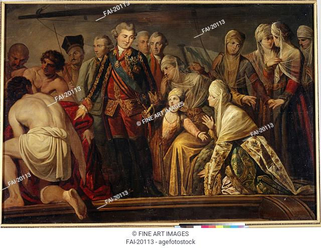 Count Alexey Grigoryevich Orlov after the Victory of Chesma. Anonymous . Oil on canvas. Classicism. Second Half of the 18th cen. . Russia