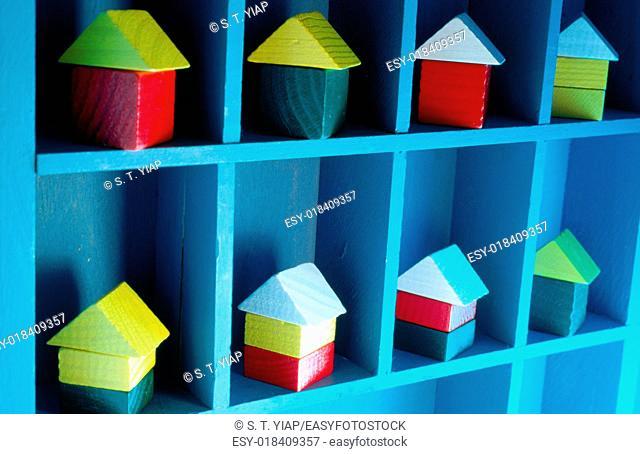 Tpy houses on shelf