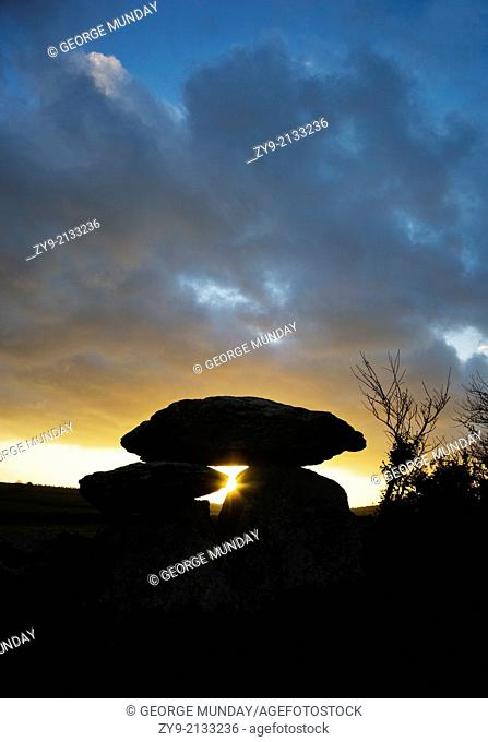 The Megalithic Knockeen Dolmen, Near Tramore, County Waterford, Ireland