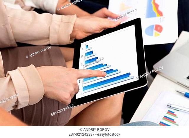 Businesswoman Touching Digital Tablet