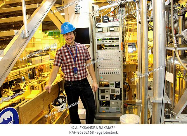 Nuclear physicist Andree Welker, photographed at the experiment hall of the so-called Isolde experiment at the European Organization for Nuclear Research 'CERN'...