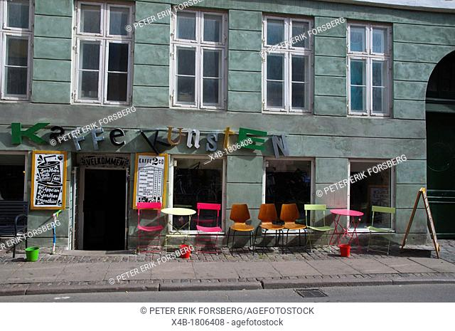 Cafe along Larsbjornsstraede street Latin Quarter district central Copenhagen Denmark Europe