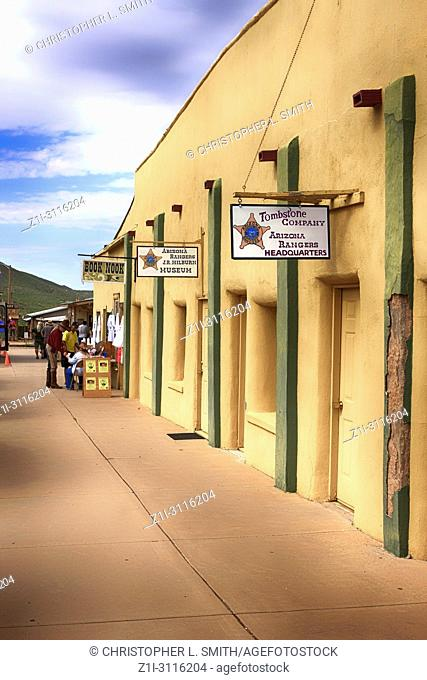 Arizona Rangers Headquarters and museum on S 4th St in historic Tombstone, Arizona