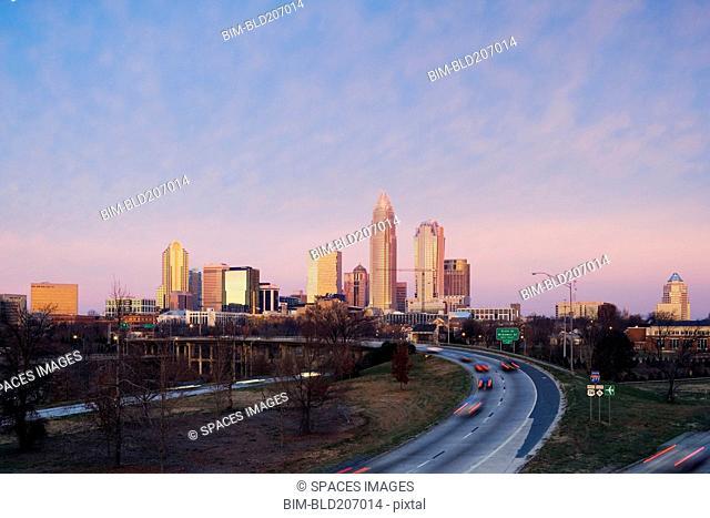 Charlotte Skyline at Sunrise