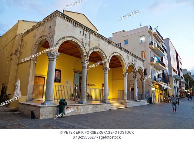 St. Mark Basilica, housing Museum of Visual Arts, Lions square, Heraklion, Crete island, Greece