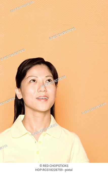 Close-up of a female office worker smiling