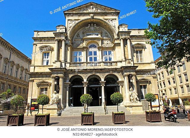 Opera Theatre facade. Avignon. Vaucluse. Rhone valley. Provence. France