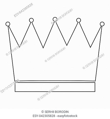 Crown the black color icon vector illustration