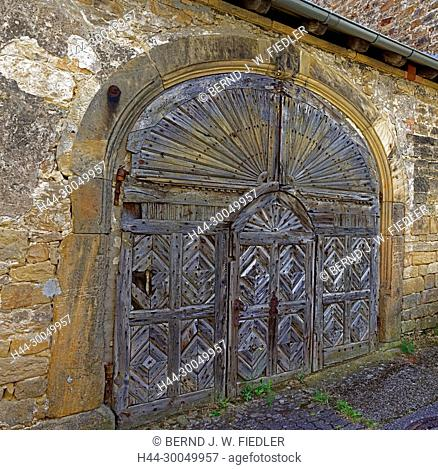 Court gate, historically, old, forest in Weinstrasse Germany
