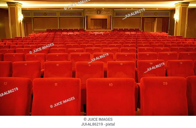 Seating in empty theater