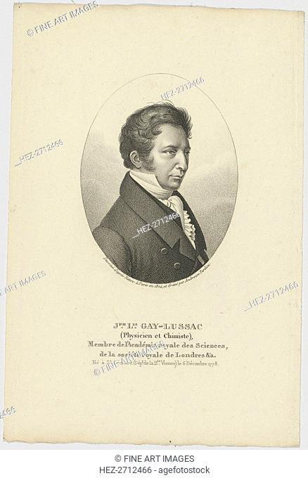 Portrait of Joseph Louis Gay-Lussac (1778-1850), c. 1824. Creator: Anonymous