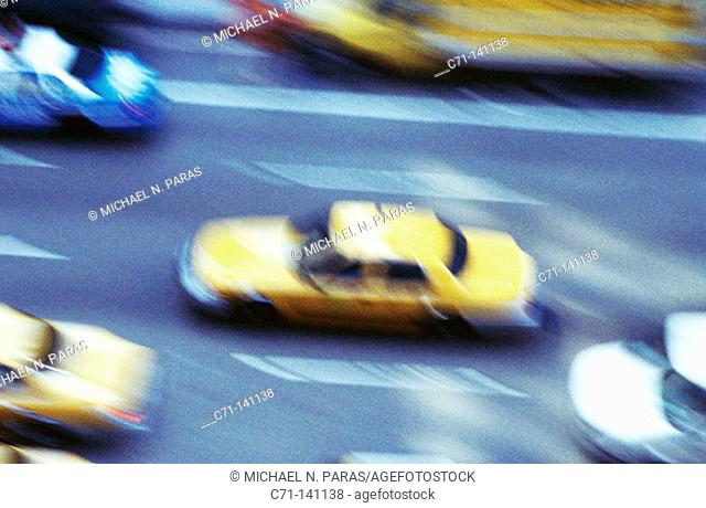 Cabs. New York City. USA