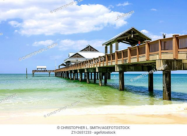 The pier at Clearwater beach Florida, voted the number one beach in America