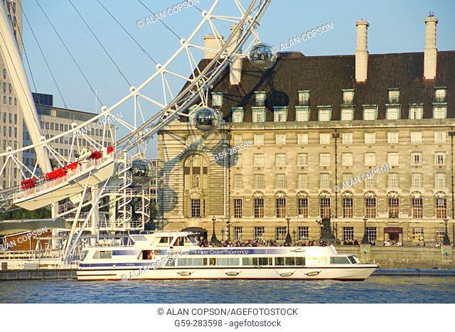 London Eye and County Hall. London. England