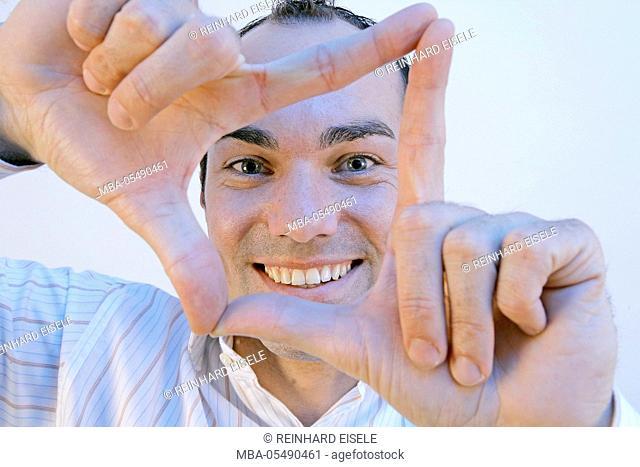 Man makes gesture
