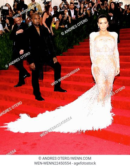 'China: Through The Looking Glass' Costume Institute Benefit Gala at the Metropolitan Museum of Art - Arrivals Featuring: Kim Kardashian