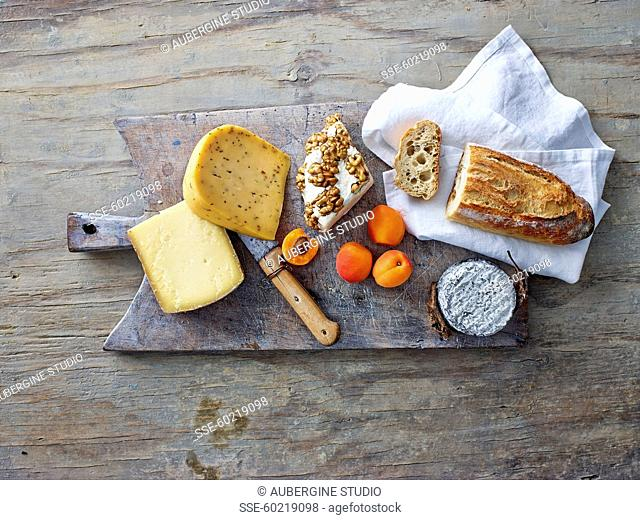 Cheeseboard and bread