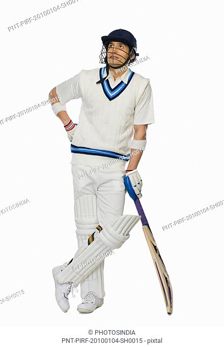Cricket batsman standing at the non striker end