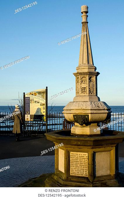 The Adamson Memorial Drinking Fountain; Cullercoats Bay, Northumberland, England