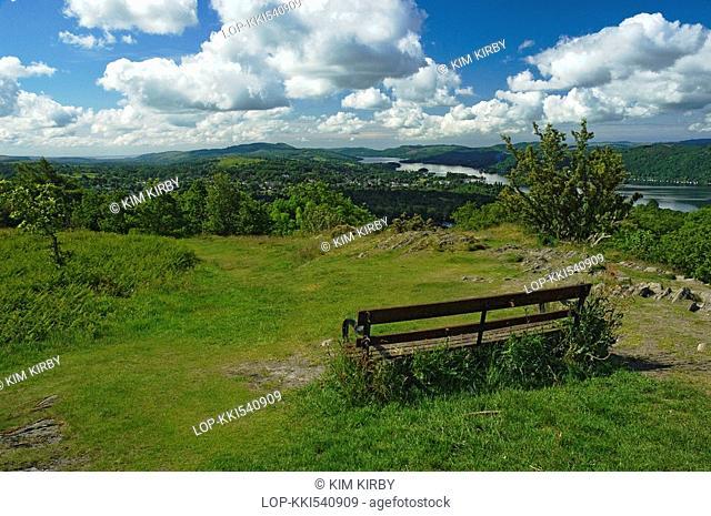 England, Cumbria, Windermere, Lake Windermere from Orrest Head