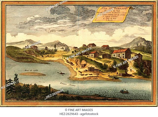 View of Beryozovo from the Sosva River, 1760. Artist: Bellin, Jacques Nicolas (1703-1772)