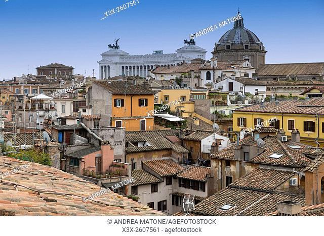 Roman rooftops. Rome, Italy