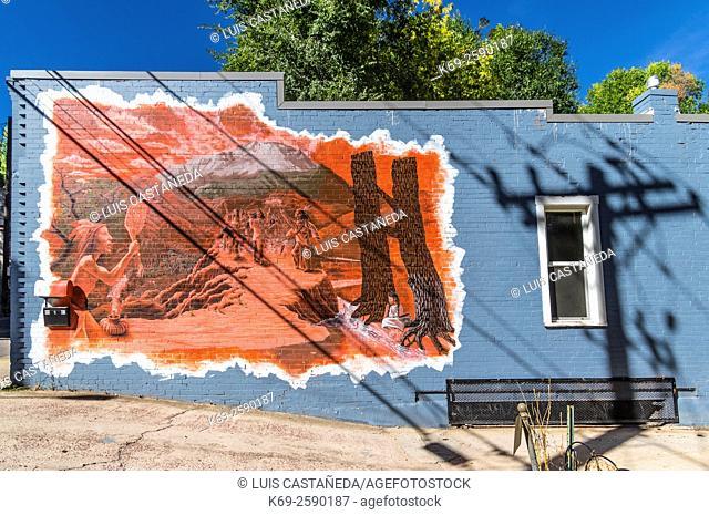 Graffiti Decoration at a house. Manitou Springs. Colorado. USA