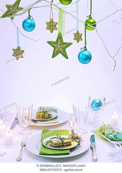 Christmas table, detail