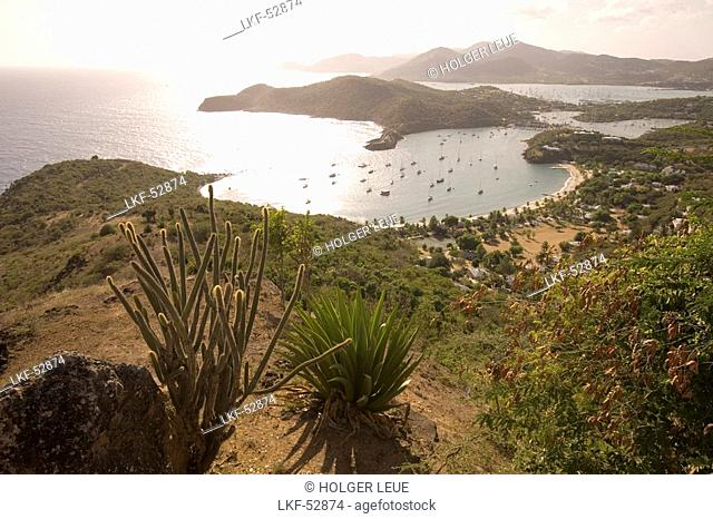 Cactus &und English Harbour, View from Shirley Heights, Antigua
