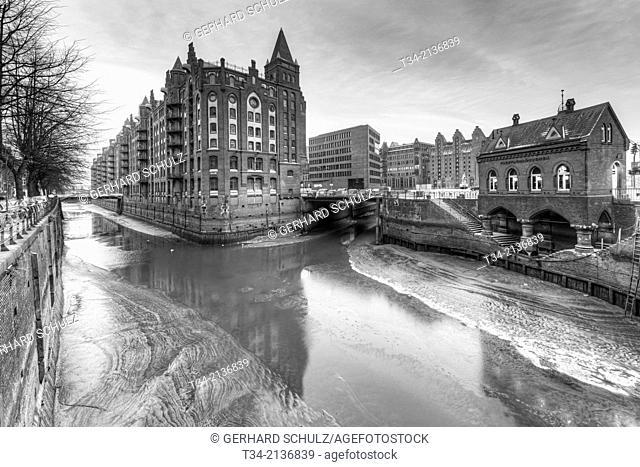 Old Warehouse District of Speicherstadt Hamburg , Germany