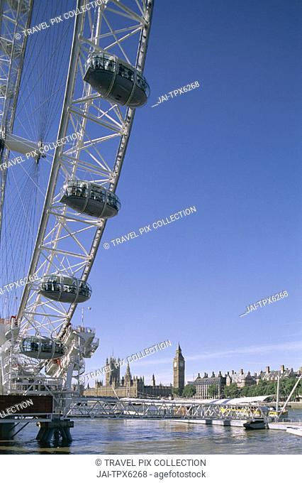 London Eye & Houses of Parliament, London, England