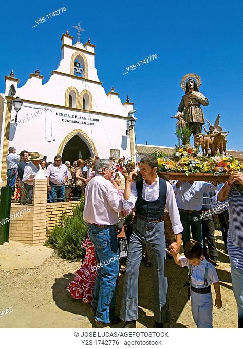 Hermitage of San Isidro Labrador-pilgrimage, Escacena del Campo, Huelva-province, Spain