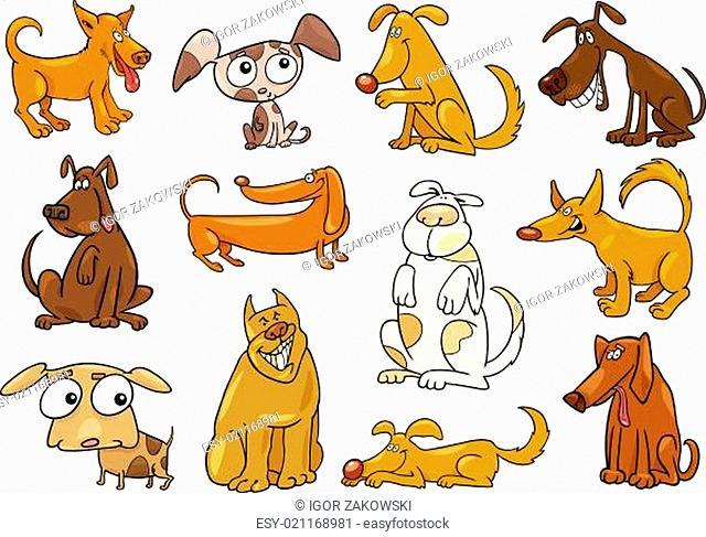 cartoon dogs set