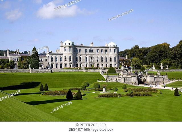 enniskerry, county wicklow, ireland, powerscourt house and gardens
