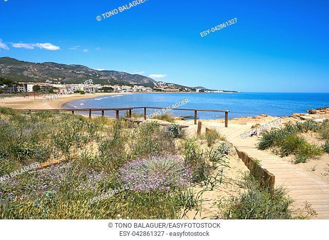 Playa beach in Alcossebre also Alcoceber in Castellon of Spain
