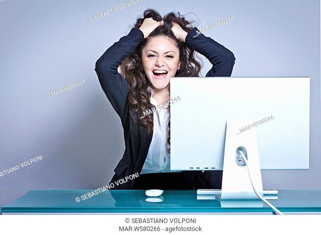 young woman in office