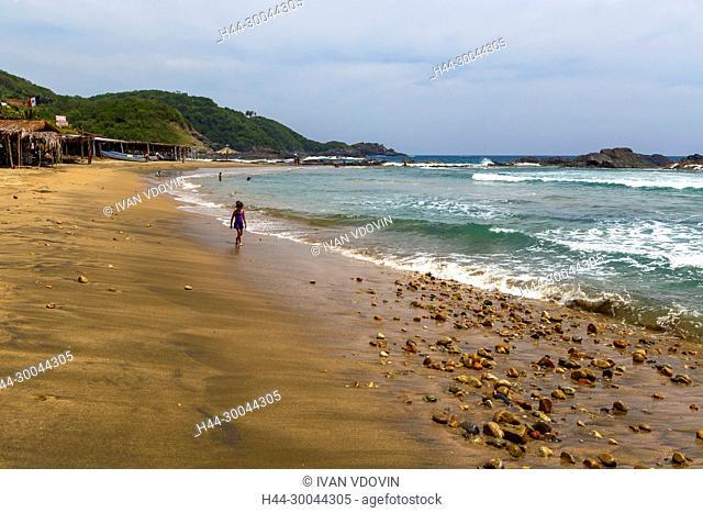 La Barrita beach, Pacific Coast, Petatlan, Guerrero state, Mexico