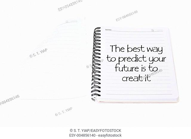 Note Book with Inspiration on White Background