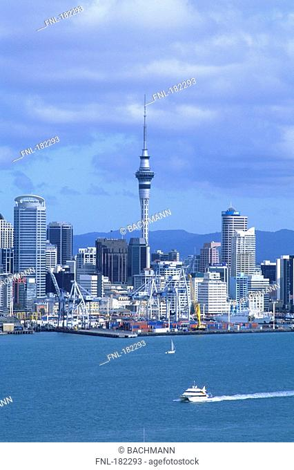 Buildings on waterfront, Auckland, New Zealand