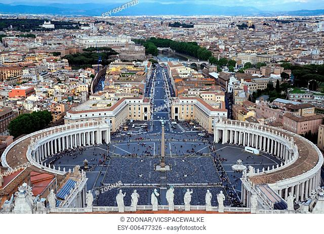 View from the San Pietro Basilica in Vatican