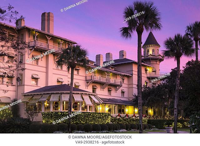 Jekyll Island Club Hotel at Sunset, Jekyll Island, Georgia