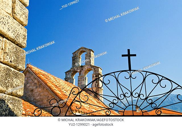 Detail of church in Budva, Montenegro